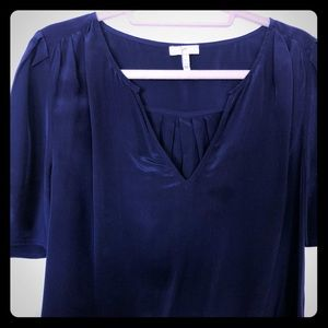 Joie 100% silk navy shirt size Large
